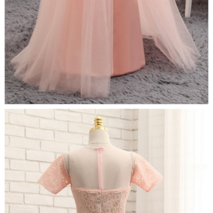 Prom Dresses, A-line Cap Sleeves Ch..