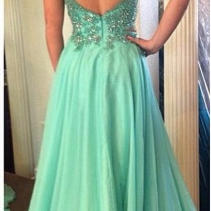Two Piece Prom Dresses, Mint Green ..