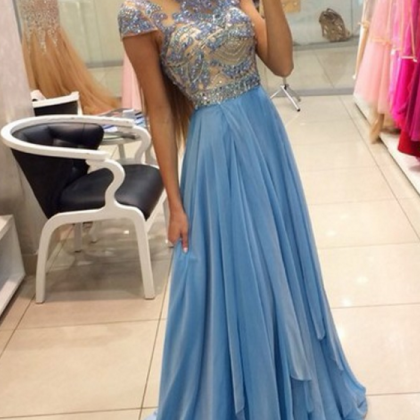 Charming Prom Dress,High-Neck Pro..