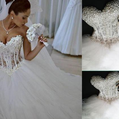 Luxurous Wedding Dress,Sweetheart W..