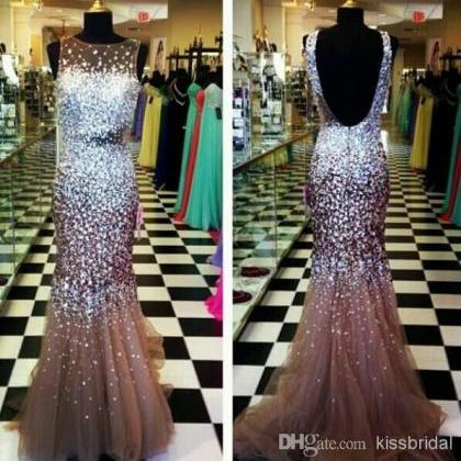 Exquisite Prom Dresses Sheer Bateau..