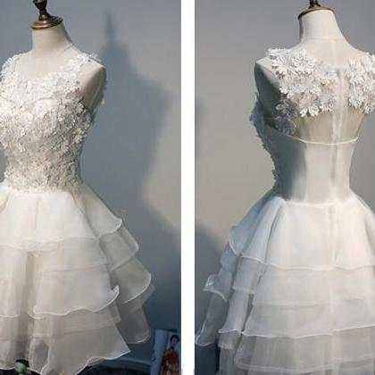 Lace Homecoming Dress,Tulle Homecom..