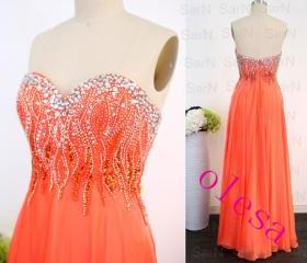 Orange Long Prom Dre..
