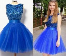 Puffy Tulle Royal Bl..
