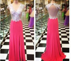 Red Prom Dresses,Ope..