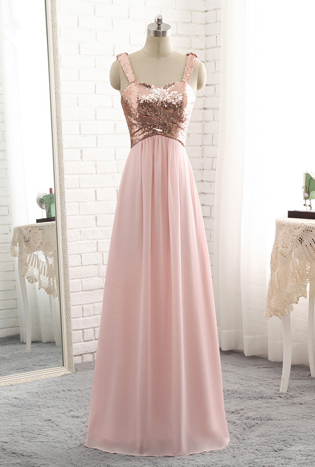 Luxury Long A Line Evening Dresses Cheap Rose Gold Chiffon Pleats Vestido De Festa Strapless Prom Party Gown