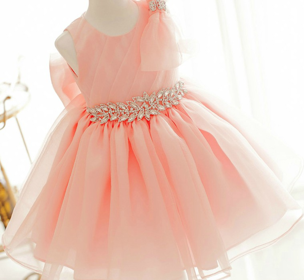Flower Girl Dress New Orange Birthday Dress Light Orange
