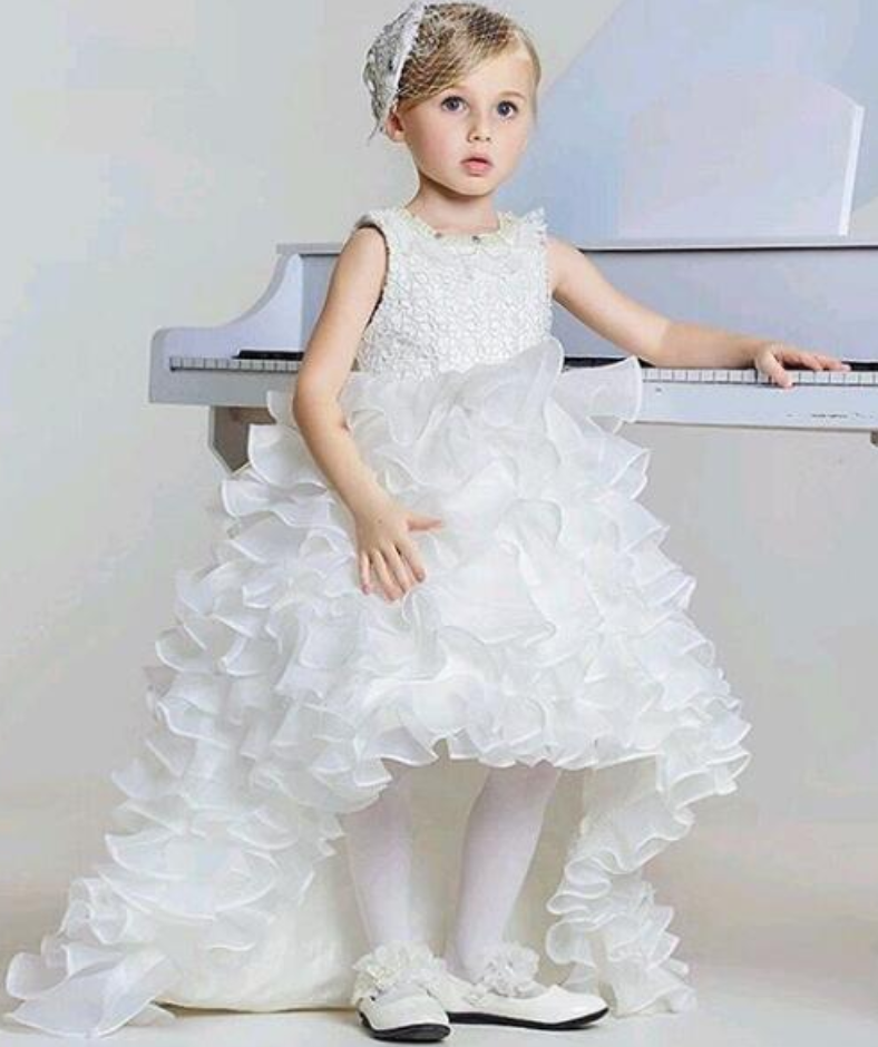 24fefb1a2f Flower Girl Dress High Low Kids Prom Dress