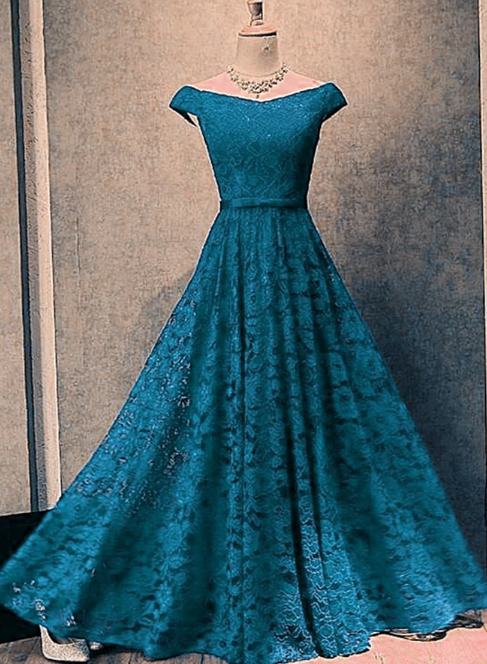 Beautiful Simple Off Shoulder Evening Gown, Prom Dress