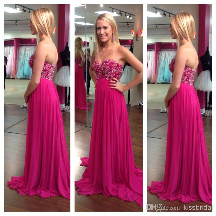 c3250656c0c Fascinating New Prom Dresses Sweetheart Neck Beaded A-Line Sleeveless Floor  Length Chiffon Elegant Evening