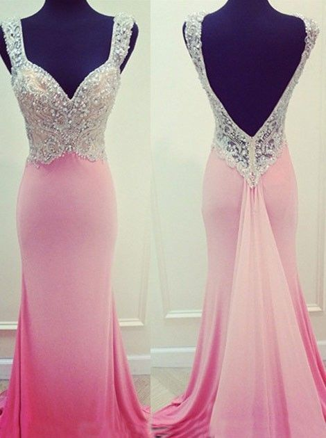 Pink Prom Dresses,Pink Evening Gowns,Simple Formal Dresses ...