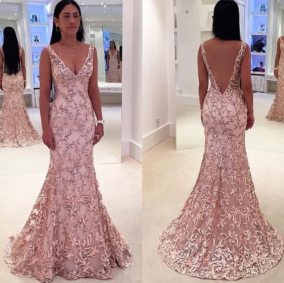 Prom Dresses,Evening Dress,Charming Prom Dress,Mermaid Prom Dress,Long Prom Dresses,Blush Pink Prom Gowns