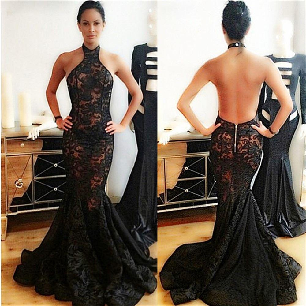 Prom Dresses,Evening Dress,Mermaid Prom Dresses,Black Lace Prom ...