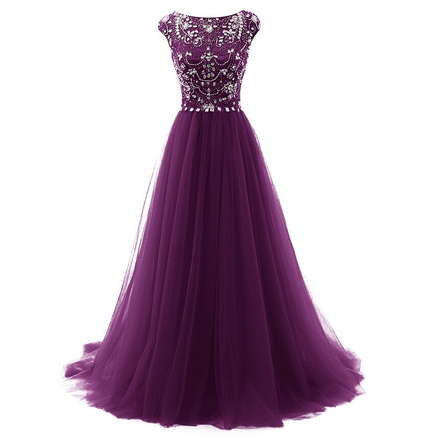 Purple Party Gowns