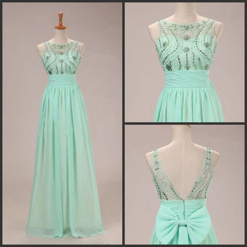 Prom Dresses,Evening Dress,Party Dresses,Mint Green Prom Dresses,2017 Evening Dresses,New Fashion Prom Gowns,Elegant Prom Dress,Princess Prom Dresses,Chiffon Evening Gowns,Sparkle Formal Dress
