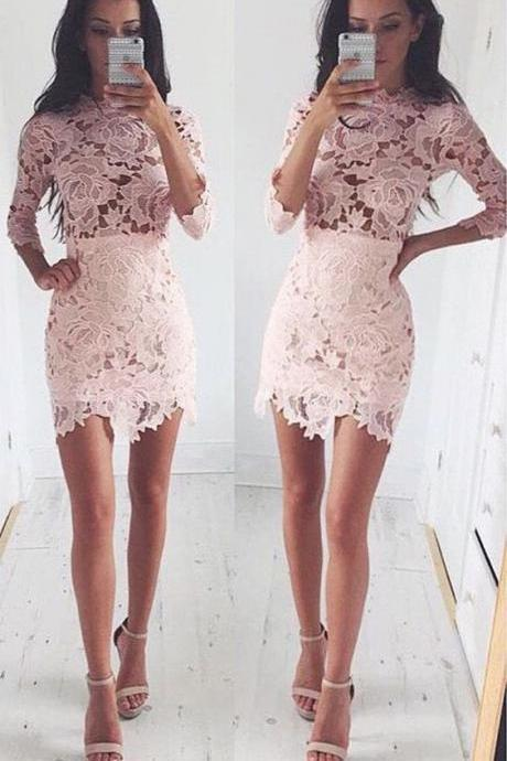homecoming dresses short, lace homecoming dresses