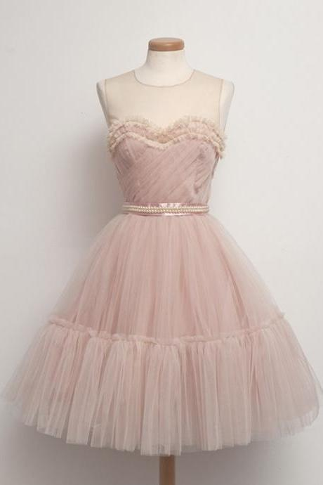 Short Prom Dress with Layered Tulle Skirt