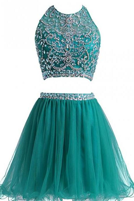 Homecoming Dresses, Short Homecoming Dresses,Two Piece Dress Homecoming De Dos Partes Grade Graduation Dresses