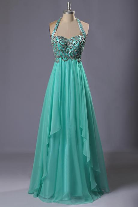 Green Prom Dress Para Formatura Chiffon Dress Formal Evening Dresses