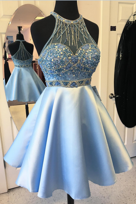 cheap homecoming dresses 2017 short,Short Homecoming Dress, Cocktail Party Dress, Halter Homecoming Dress, Satin Prom Dress, Cheap Prom Dress, Prom Dresses , A Line Homecoming Dress, Homecoming Dresses 2017