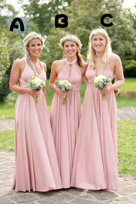Pink Bridesmaid Dress Different Style Chiffon Long Bridesmaid Dresses Bridesmaid Dress