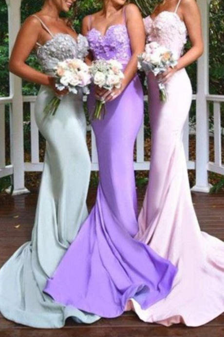 Spaghetti Prom Dress,Backless Prom Dress,Mermaid Prom Dress,Fashion Bridesmaid Dress,Sexy Party Dress, New Style Evening Dress