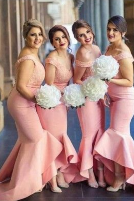 Off The Shoulder Prom Dress,Mermaid Prom Dress,Fashion Bridesmaid Dress,Sexy Party Dress,Custom Made Evening Dress