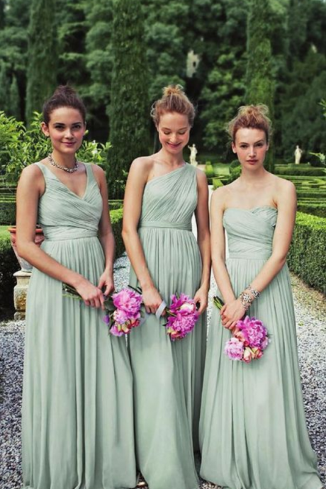 Charming Prom Dress,Pleated Prom Dress,Fashion Bridesmaid Dress,Sexy Party Dress, New Style Evening Dress