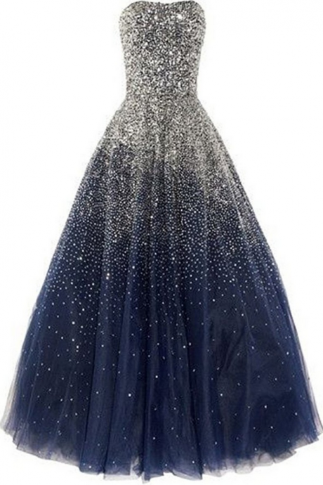 Luxury Sparkly Evening Dresses Heavy Beaded Ball Gown Prom Dresses for Women