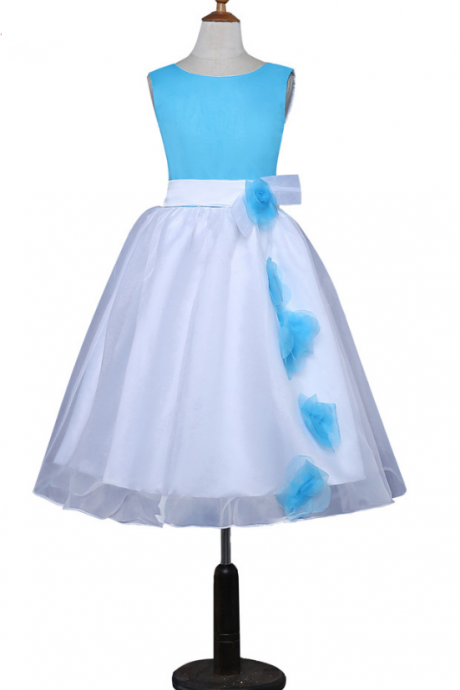 Flower Girl Dresses ,For Weddings A-line Scoop Tulle First Communion Dresses For Little Girls