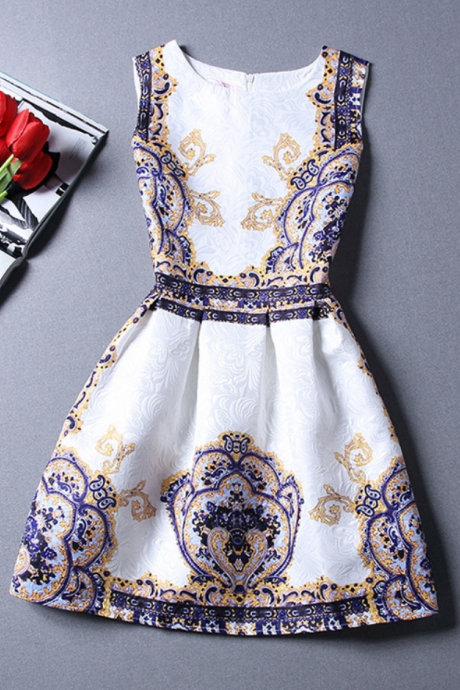 Lovely Short Floral Summer Dresses, Women Dresses, Casual Dresses, Homecoming Dresses