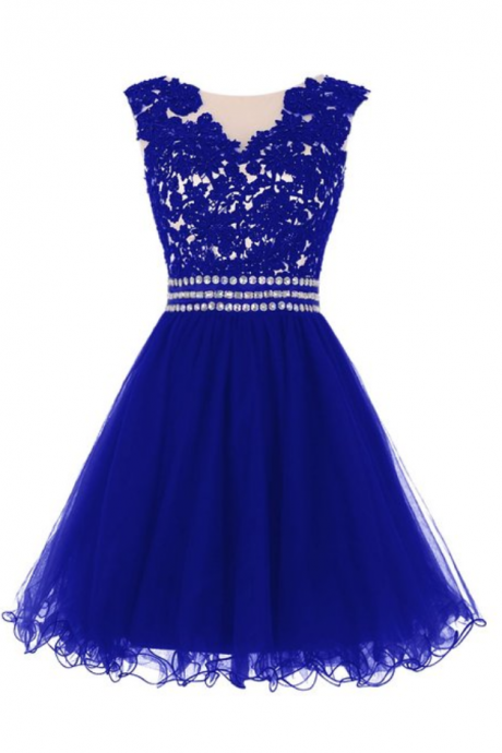 Fashionable Royal Blue Tulle Homecoming Dresses, Tulle Party Dresses, Short Prom Dresses, Handmade Formal Dresses