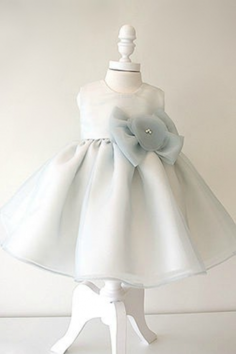 Flower Girl Dresses Light Blue Flower Girl Dress, Big bow flower girl dress, Big bow baby girl dress, Blue flower girl dress, Off white flower girl dress, New flower girl dress, Baby girl birthday outfit, Free shipping worldwide