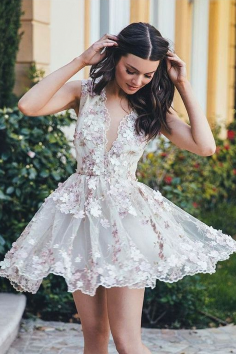 short homecoming dress,homecoming dresses,homecoming lace Short Prom Dresses