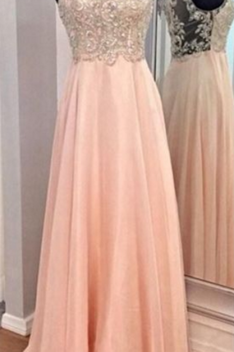 Newest Beading Prom Dresses, Floor-Length Evening Dresses, Real Made Charming Evening Dresses