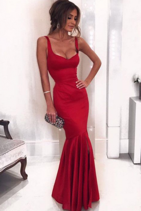 Sexy Sweetheart Sleeveless Long Prom Dresses,Burgundy Mermaid Prom Dress,Formal Evening Gowns,Party Dresses