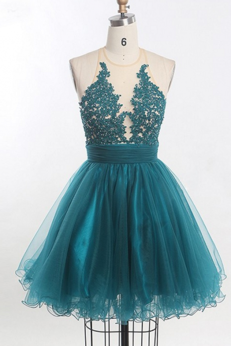 Short Homecoming Dress, Tulle Homecoming Dresses, Sleeveless Homecoming Dress, , Beading Homecoming Dress,