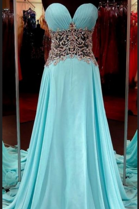 A line Prom Dress,Blue Prom Dresses,Formal Evening Dress,Long Homecoming Dress,Simple Evening Gowns