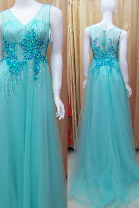 High Quality Evening Dress,Sexy Evening Dress,Custom Evening Dress,Beads Evening Dress,Hot Evening Dress
