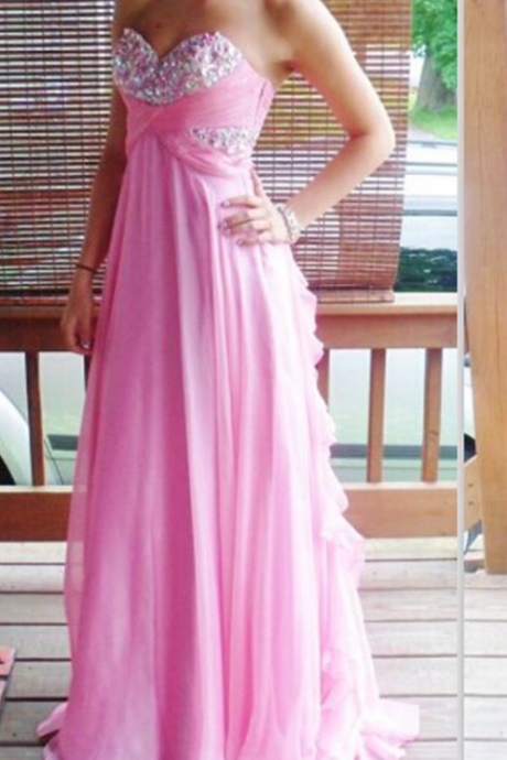 Sequin Prom Dress,Pink Prom Dress,Pretty Prom Dress,Elegant Prom Dress,Long Prom Dress,Chiffon Prom Dress,Popular Prom Dress