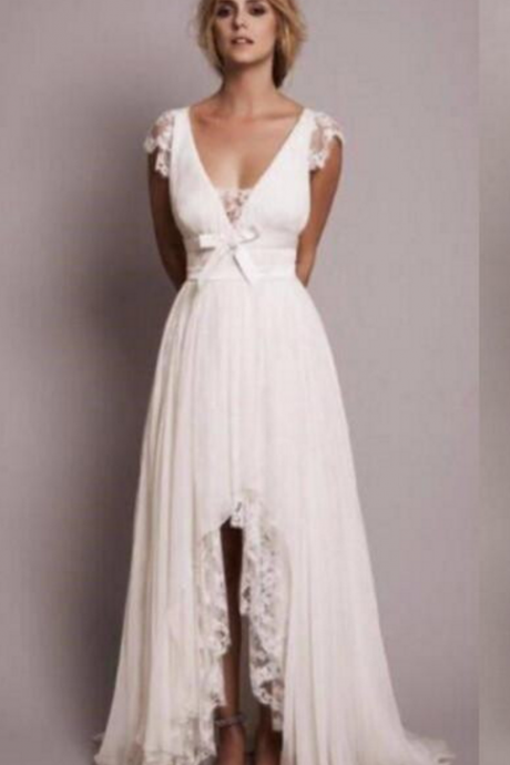 Split Country Wedding Dress