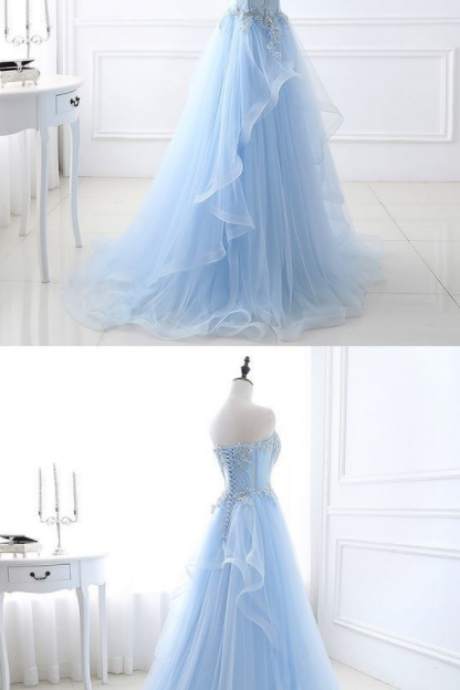 Chic Prom Dresses Sweetheart A-line Floor-length Sexy Prom Dress/Evening Dress