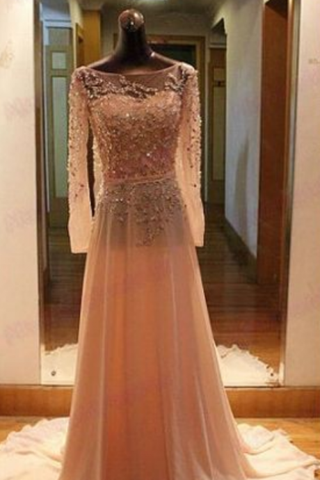 O-Neck A-Line Long Prom Dress,Long Prom Dresses,Cheap Prom Dresses, Evening Dress Prom Gowns, Formal Women Dress,Prom Dress