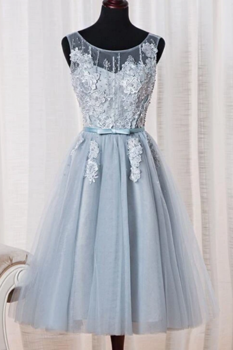 Tulle Homecoming Dress, Cute Tea Length Party Dress