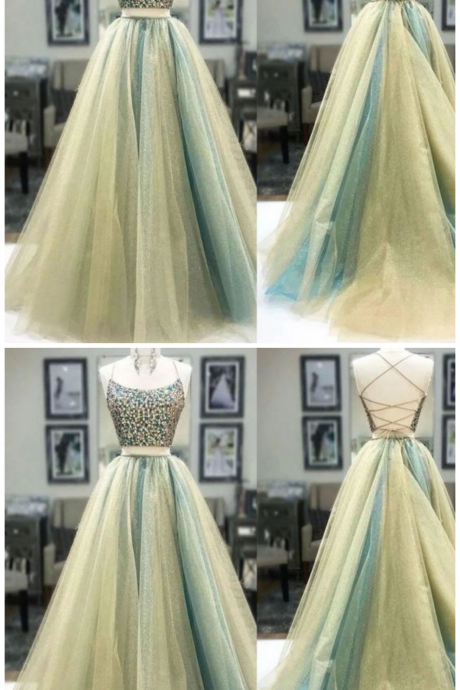 Charming Prom Dress,Tulle Prom Dress,Backless Prom Dress