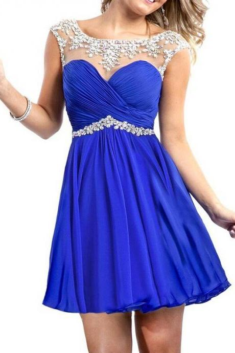 Charming PROM Dress Chiffon EVENING Dress Beading PARTY Dress Short Noble Homecoming Dress
