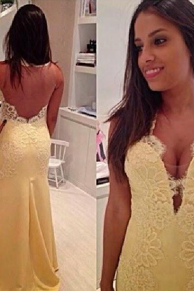 2016 High Quality EVENING Dress Charming LACE PARTY Dress Halter Prom Dress Appliques Prom Dress Backless Prom Dress