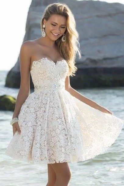 Short Homecoming Dresses Lace PROM Dress Sweetheart EVENING Dress Dress For Graduation