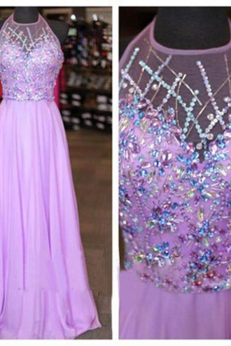Lilac Prom Dresses, Beaded Prom Dress, Sexy Prom Dresses, Cheap Prom Dresses Prom Dresses, Sexy Prom Dresses, Dresses For Prom