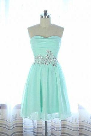 Beading Short/Mini Homecoming Dresses, Party Dresses, Sweetheart Homecoming Dresses, Real Made Graduation Dresses,On Sale